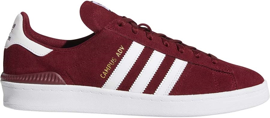 Adidas Campus ADV Men's Trainers Skate Shoes, UK 8.5 Red/White