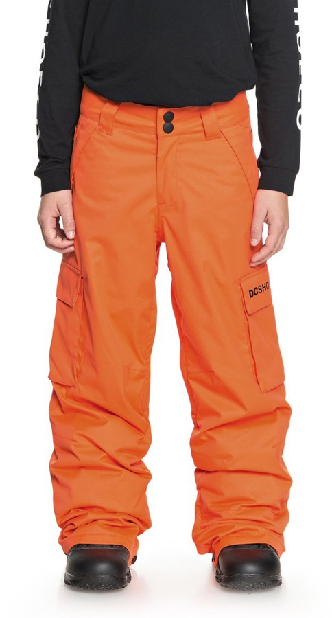 DC Banshee Youth Kids' Ski/Snowboard Pants, M Red Orange
