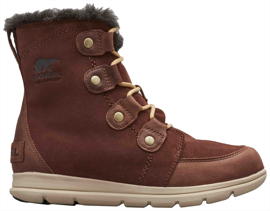 Sorel Explorer Joan Women's Winter Boots, UK 5.5 Burro