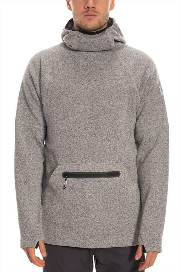 686 Knit Tech Fleece Hoody, M Light Grey Heather