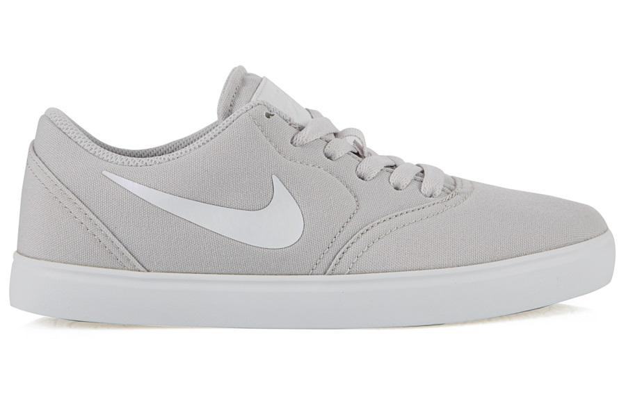 Nike SB Check Canvas Women's/Kid's Skate Shoes, UK 6.5 Vast Grey/White