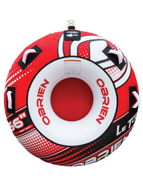 O'Brien Le Tube Round Towable Inflatable Tube 1 Rider Red 2019