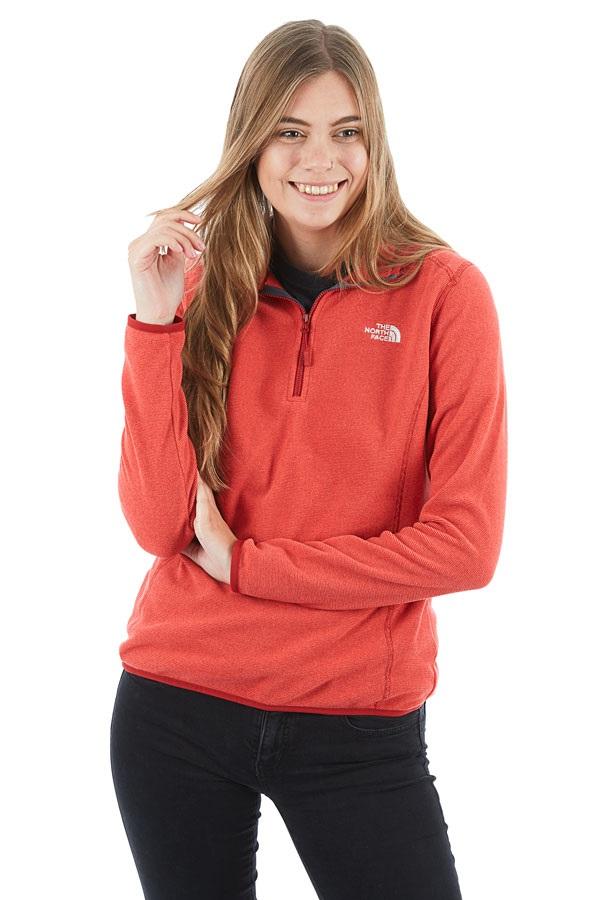 The North Face 100 Glacier 1/4 Zip Women's Fleece Jacket, S Red