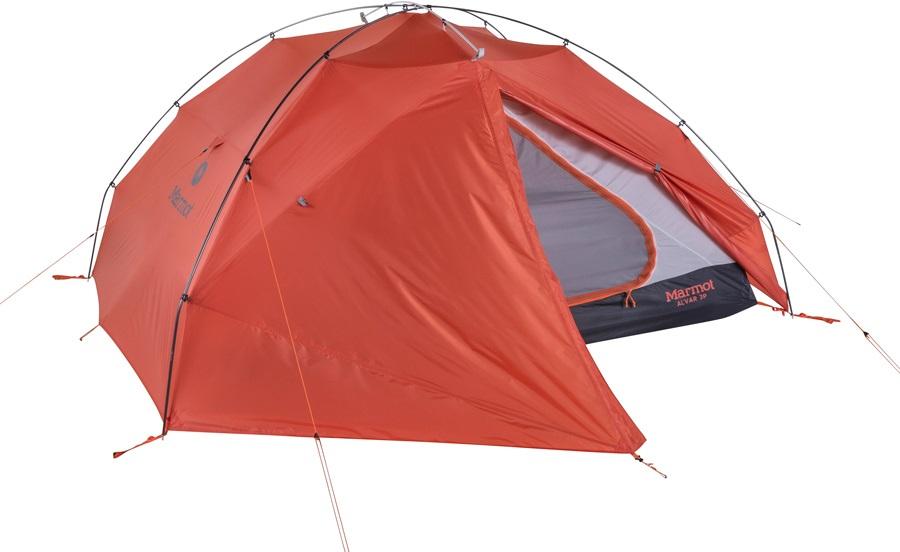 Marmot Alvar UL 2 Tent Lightweight Camping Shelter, 2 Man Rust