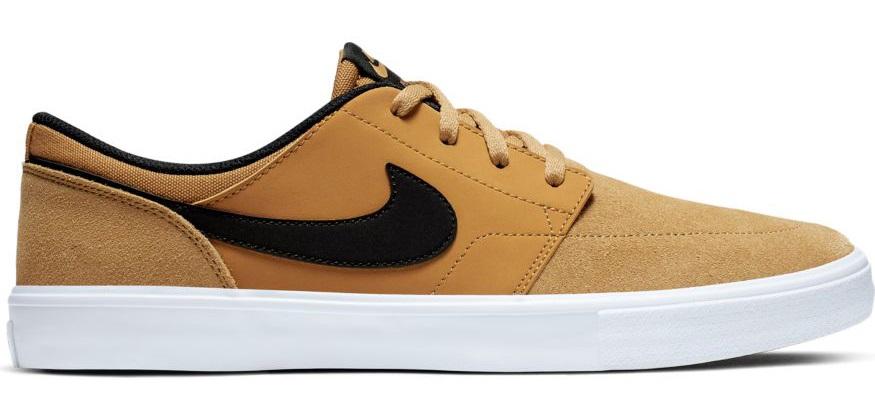 Nike SB Portmore II Solar Skate Shoes, UK 7 Wheat/Black/White