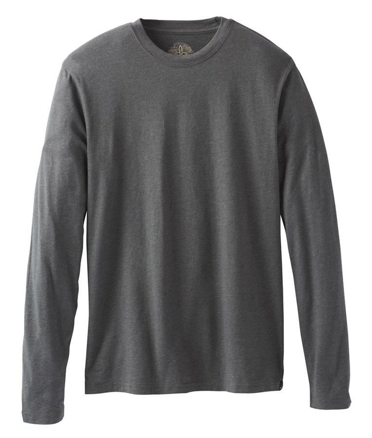 Prana PrAna Long Sleeve T-Shirt, S Charcoal Heather
