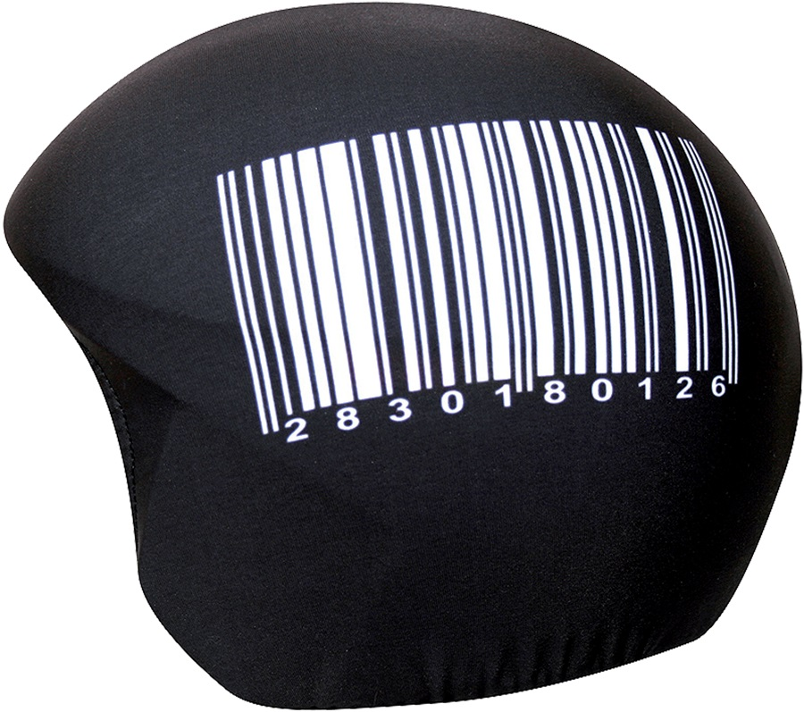 Coolcasc Printed Cool Ski/Snowboard Helmet Cover, One Size, Barcode