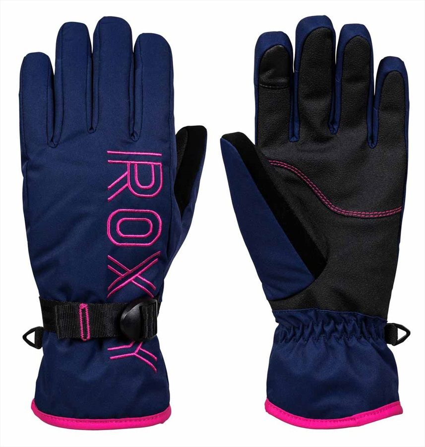 Roxy Freshfield Women's Snowboard/Ski Gloves, M Medieval Blue