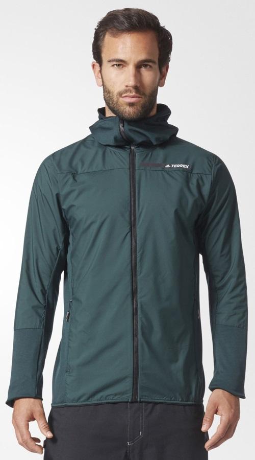Adidas Terrex Skyclimb Men's Hybrid Fleece Jacket, XL Green Night