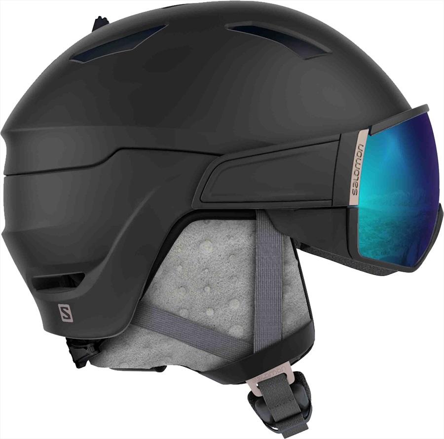 Salomon Mirage Women's Ski/Snowboard Helmet, M, Black/Rose Gold