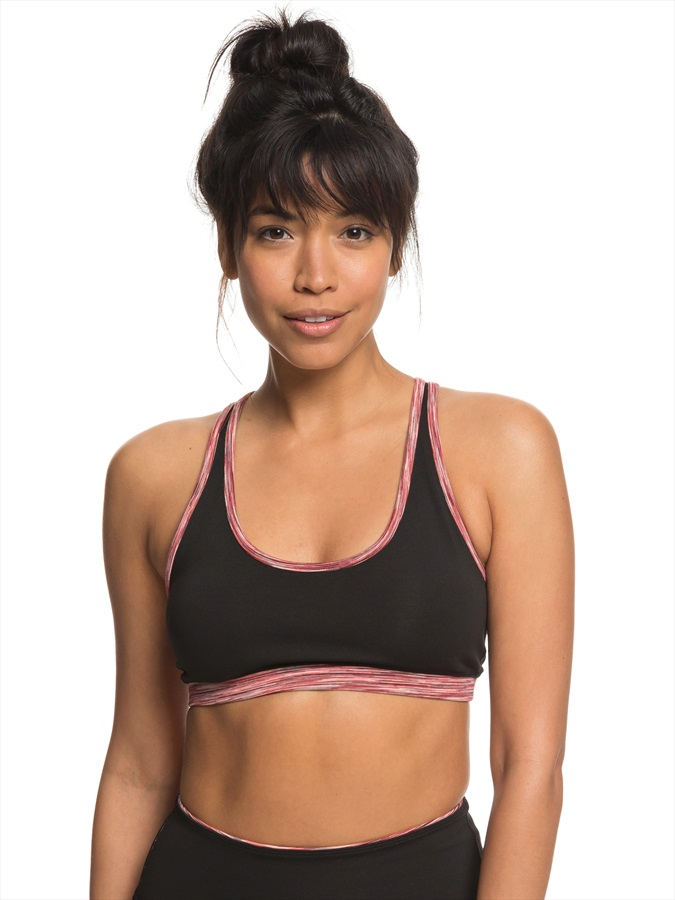 Roxy Going Everywhere Reversible Sports Bra, XL True Black