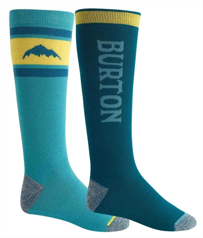 Burton Weekend Midweight 2PK Ski/Snowboard Socks, S Deep Teal