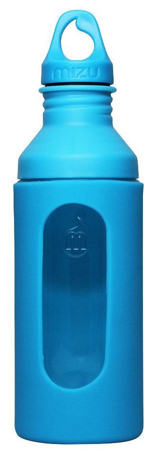 Mizu G7 Glass Bottle Insulated Glass Water Bottle, 700 Ml, Blue
