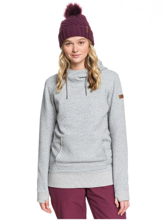 Roxy Dipsy Women's Snowboard/Ski Hoodie, XS Heather Grey