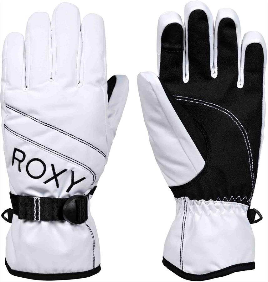 Roxy Jetty Solid Women's Snowboard/Ski Gloves, M Bright White