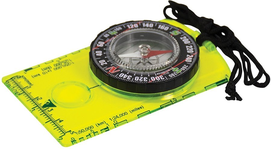 Ultimate Survival Technologies Deluxe Hi Vis Map Compass