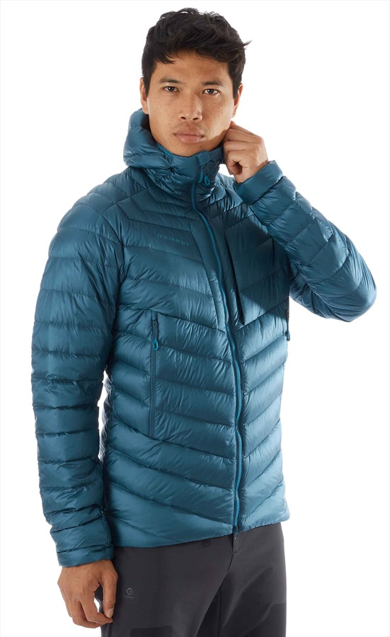 Mammut Broad Peak Insulated Hooded Climbing Jacket, M Teal Sapphire