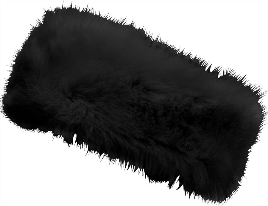 Manbi Women's Alicia Faux Fur Microfleece Headband, OS Black
