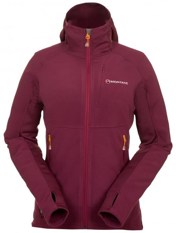 Montane Fury 2.0 Fleece Women's Softshell Jacket, L Saskatoon Berry