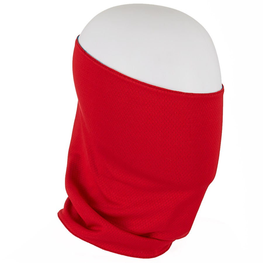 Planks Reversible Looter Neck Tube, One Size Red/Peacock