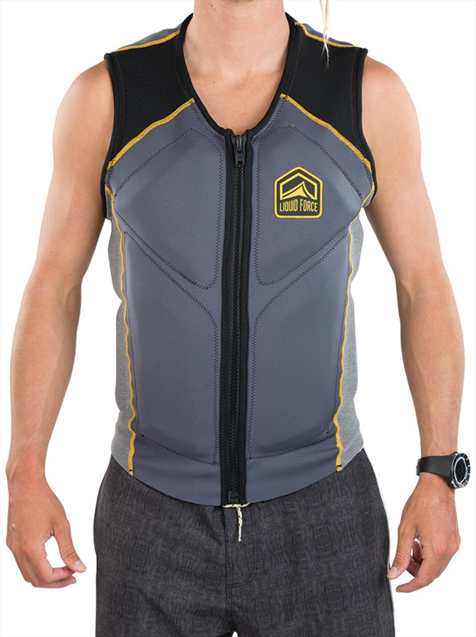 Liquid Force Watson Wakeboard Impact Vest, S Steel