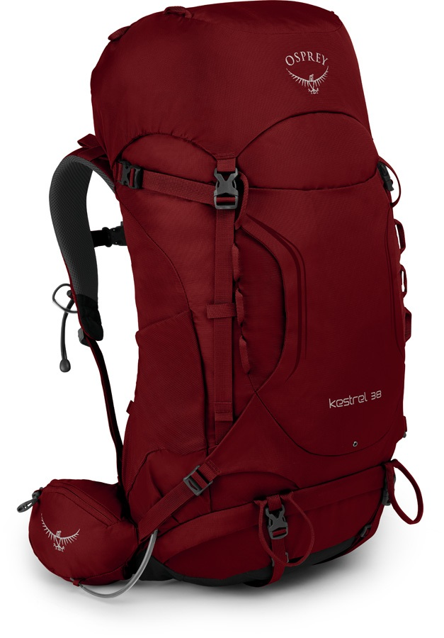Osprey Kestrel 38 S/M Adventure Trekking Pack, Rogue Red