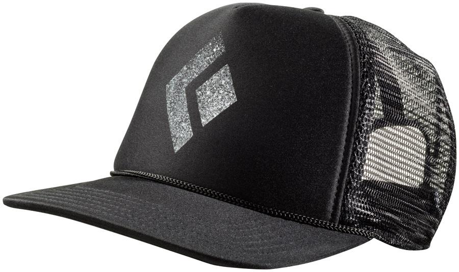 fb64f4eaa80ec Black Diamond Flat Bill Trucker Hat OS Black/White