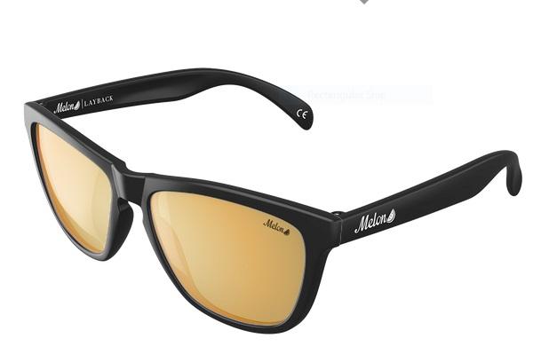 Melon Layback Gold Chrome Polarized Sunglasses, 24K