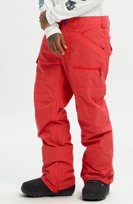 Burton Covert Snowboard/Ski Pants, L Flame Scarlet Ripstop 2020