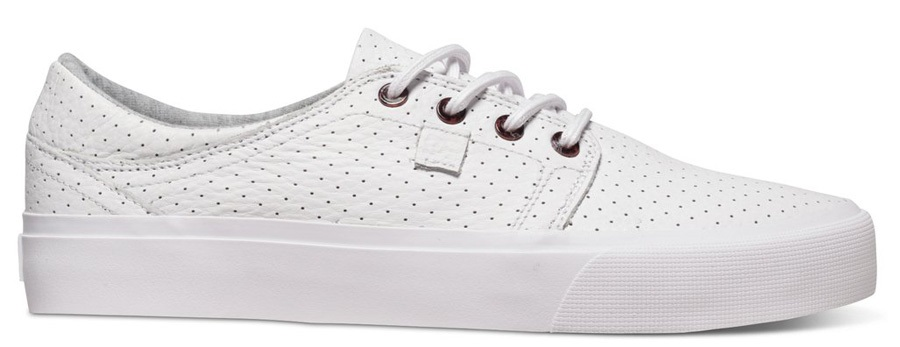 DC Trase LX Skate Shoes UK 8 White/Armor