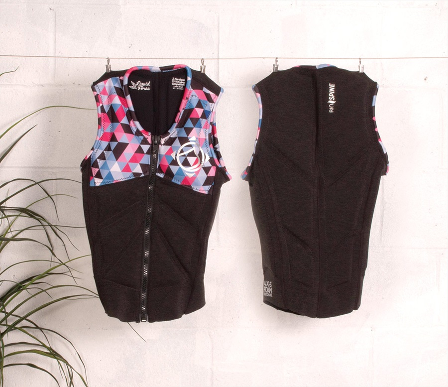 Liquid Force Z Cardigan Ladies Wakeboard Impact Vest, L Coal Multi