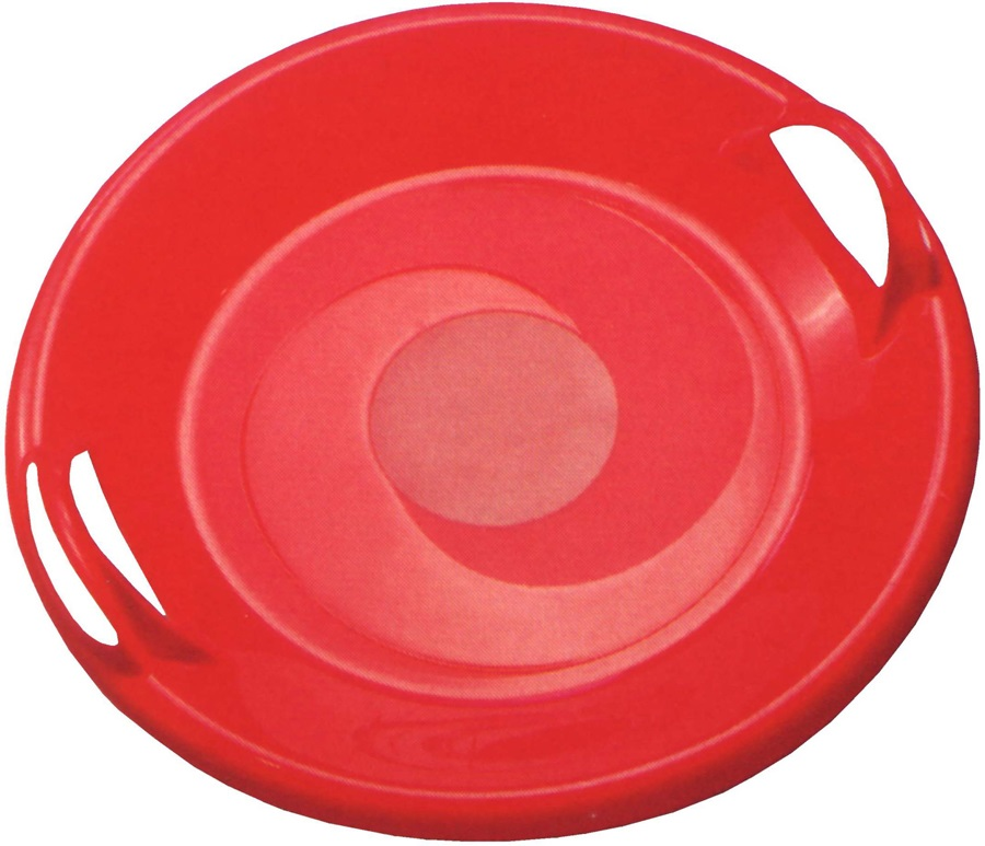 Manbi UFO Slider Snow Sledge, 60cm Diameter, Red