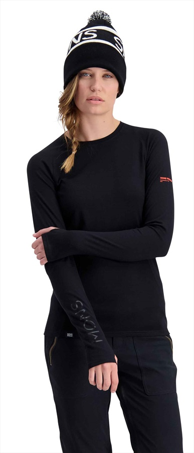 Mons Royale Olympus 3.0 LS Women's Merino Wool Top XS Black