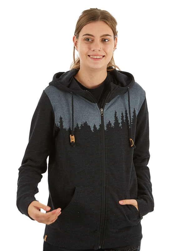 Tentree Juniper Women's Zip Hoodie, L Meteorite Black Heather
