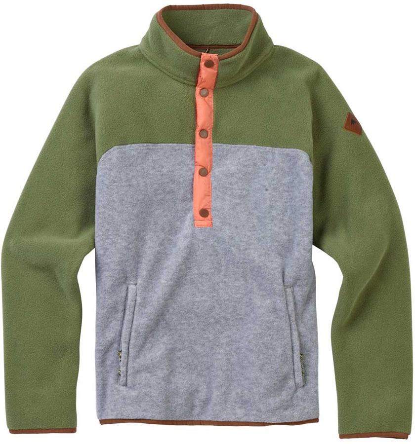 Burton Hearth Pullover Women's Snap-Up Fleece, XS Clover