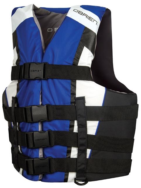 O'Brien 4 Buckle Adjustable CE Buoyancy Aid Vest XS-S Blue White