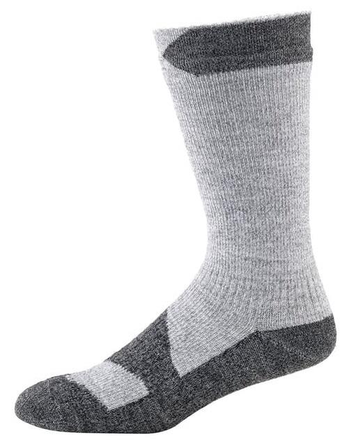SealSkinz Walking Thin Mid Waterproof Socks, S Grey Marl/Dark Grey