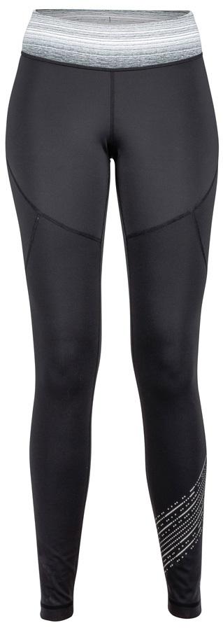 Marmot Fore Runner Tight Women's Baselayer Leggings, UK 14 Black/Grey