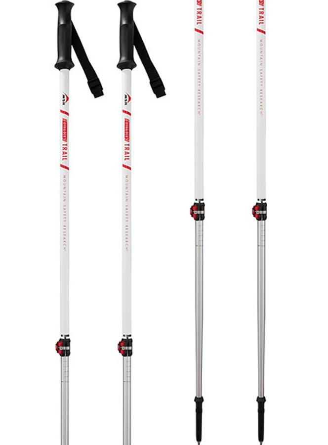 MSR DynaLock Trail Adjustable Ski & Snowboard Poles, 100-140cm