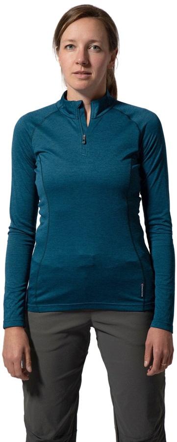 Montane Dart Zip-Neck Women's Technical Top, XS Narwhal Blue