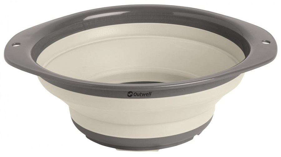 Outwell Collaps Bowl Collapsable Tableware, Large Cream White