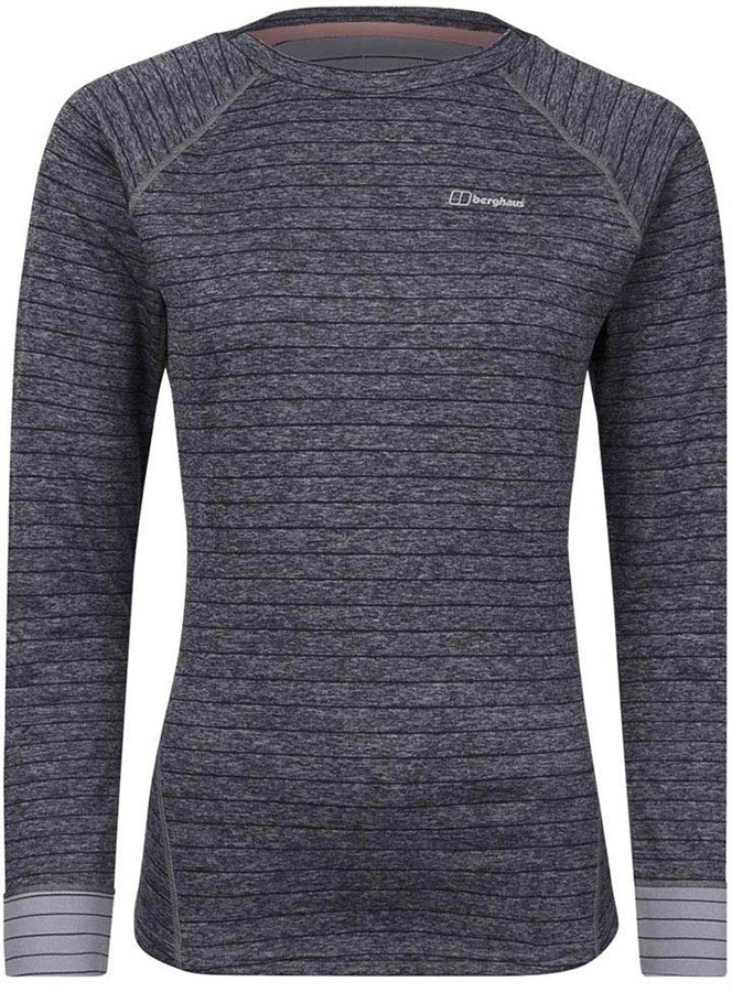 Berghaus Thermal Tech Crew Women's Long Sleeve T-Shirt, XS Carbon