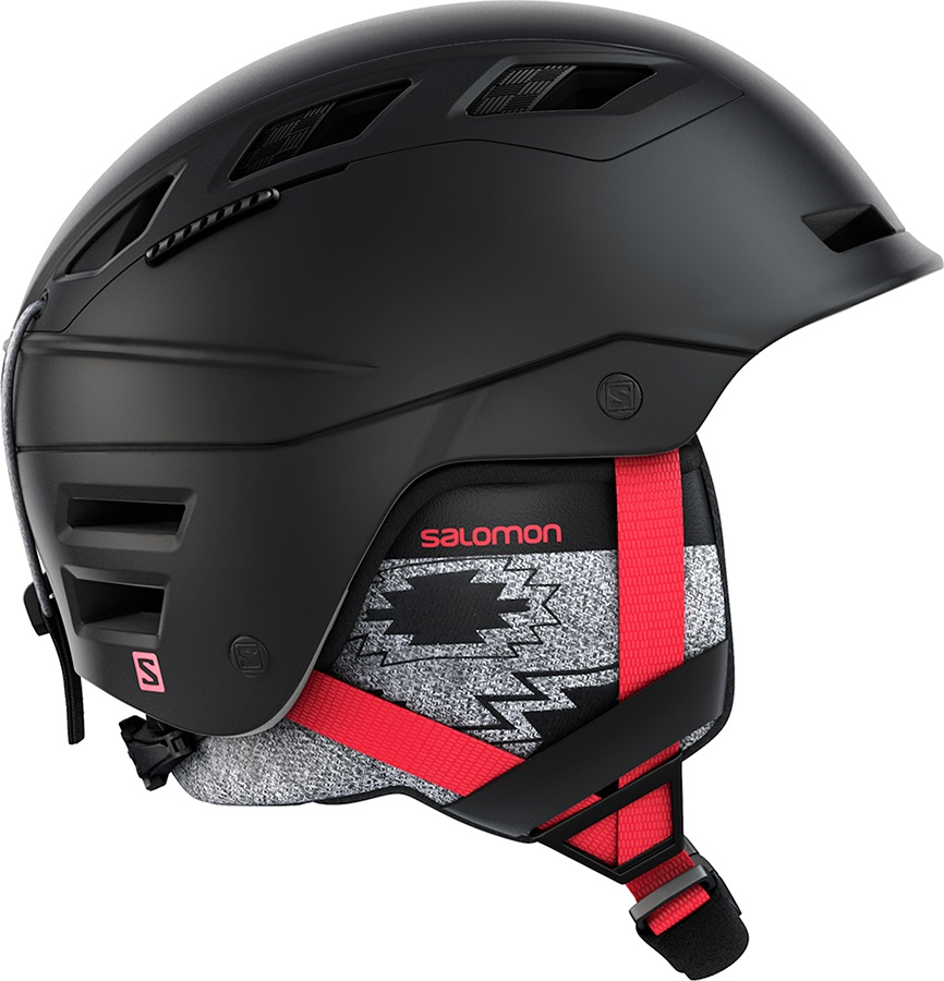 Salomon QST Charge W Women's Ski/Snowboard Helmet, S Black/Coral