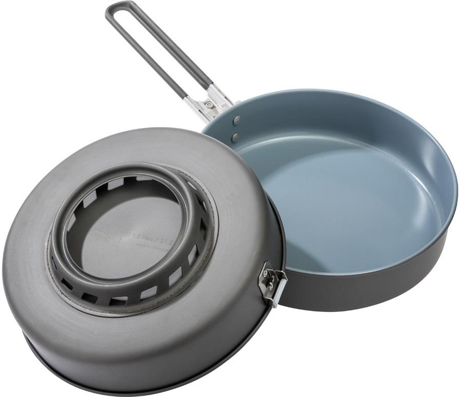 MSR WindBurner Ceramic Skillet Nonstick Camp Frying Pan, 21.5cm Grey