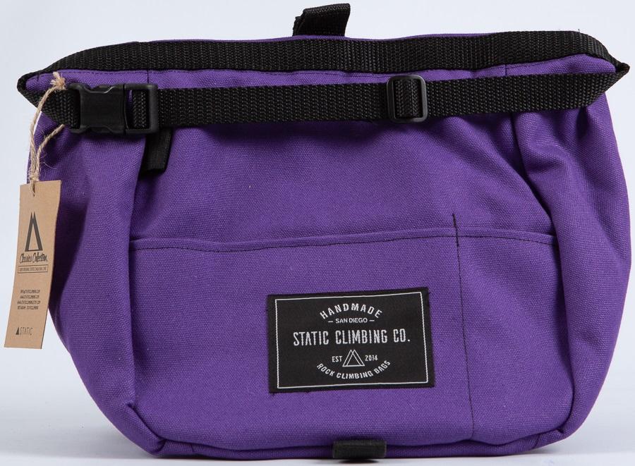 Static Canvas Bucket Rock Climbing Chalk Bag: Purple