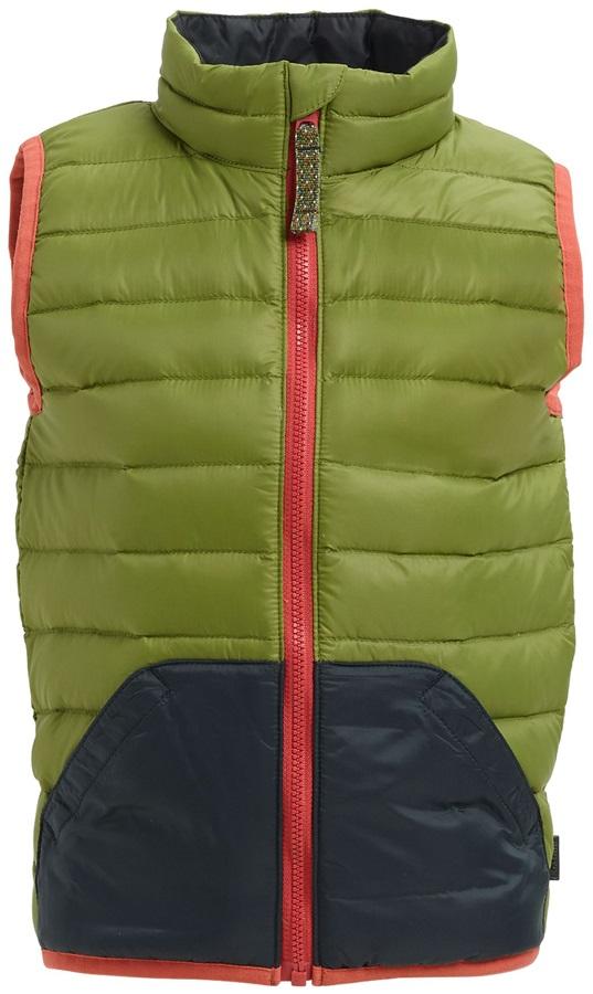 Burton Kids Evergreen Down Insulator Vest Body Warmer, 4T Olive