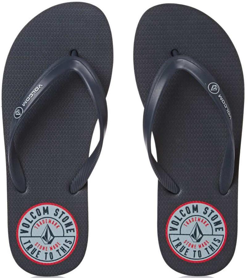 Volcom Rocker Flip Flops, UK 6 Navy