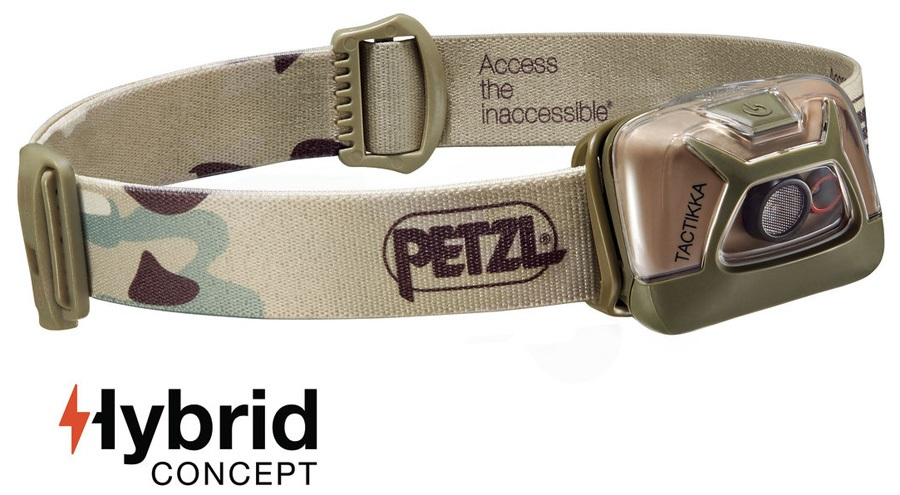 Petzl Tactikka Headlamp Headtorch, 300 Lumens Camouflage