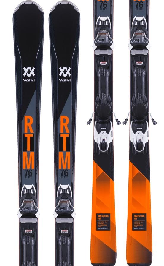Volkl RTM 76 Elite Marker VMotion 11 GW Skis, 168cm Black/Orange 2018