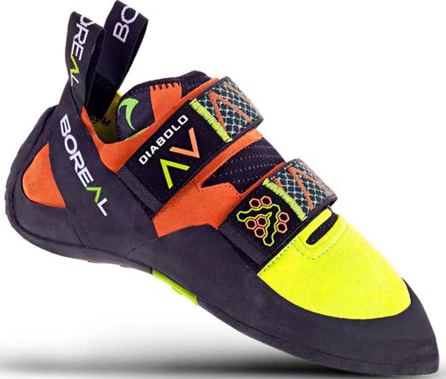 Boreal Mens Diabolo Rock Climbing Shoe, UK 7 Yellow/Orange